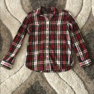 LRL • plaid button down with pockets